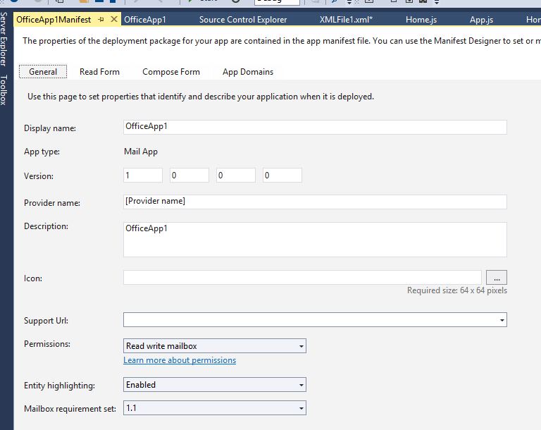 Creating an Outlook Appointment with the JavaScript API for
