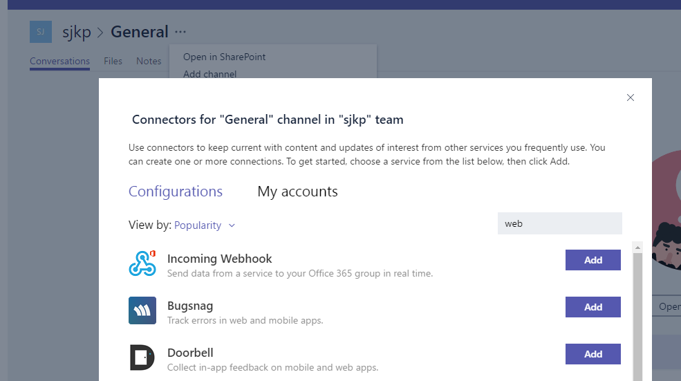 Use Azure Functions to Create a Microsoft Teams Webhook